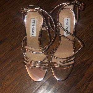 Steve Madden Smith Rose Gold Heels Size 5.5